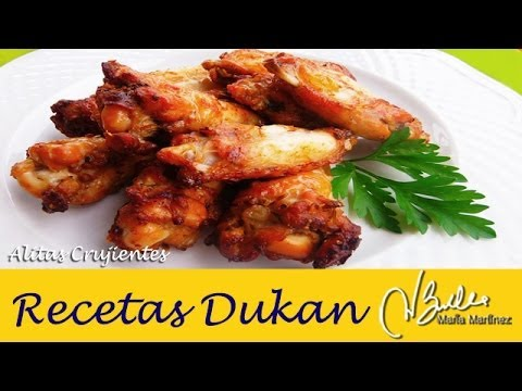 Alitas de Pollo Crujientes (dieta Dukan, Ataque) / Dukan Roasted Chicken Wings thumbnail