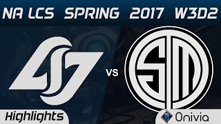 CLG vs TSM Highlights Game 3 NA LCS Spring 2017 W3D2 Counter Logic Gaming vs Team Solo Mid