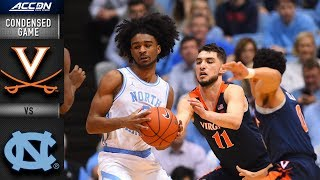 Virginia vs. North Carolina Condensed Game | 2018-19 ACC Basketball