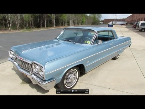 1964 Chevrolet Impala Hardtop Sport Coupe Start Up. Exhaust. and In Depth Review