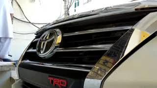 Toyota Fortuner TRD Grill Strip Black - Model 2016-2019