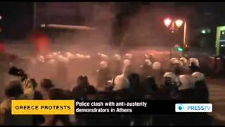 Riot police, anti-austerity protesters clash in Greece