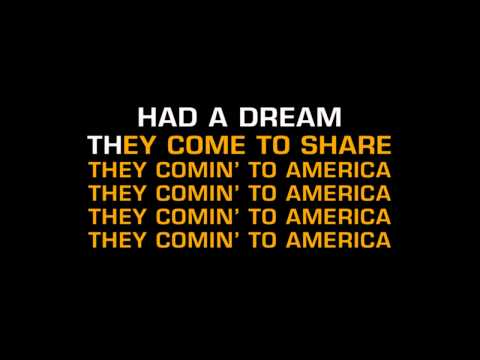 Neil Diamond - America (Karaoke)