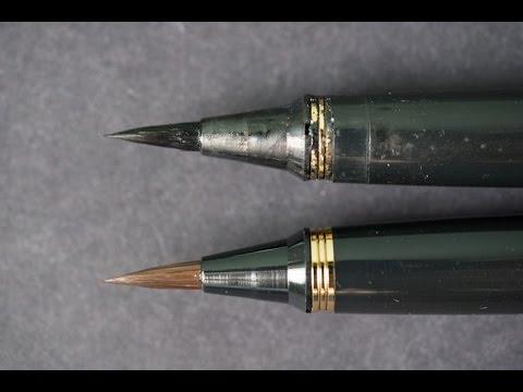Review: Kuretake Sable Brush Pen No 40 & 50