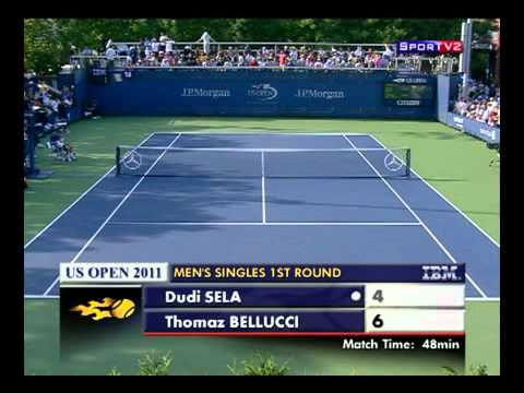 US Open 2011   R1 Bellucci vs Sela Part 5