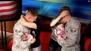 Surprise reunion for two military wives