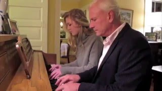 Sister and Father of Lana Del Rey playing the piano