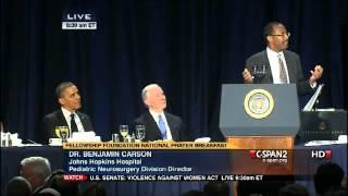 "Dr. Benjamin Carson Explains ""Political Correctness is Dangerous"" in Front of Barack Obama"