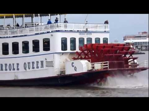 New Orleans. Mississippi River Huge Paddle Boat