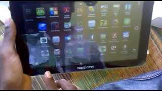 karbonn smart tab9 marvel  nice interfacing android ics4.0 hands on my first tab of 9 inches