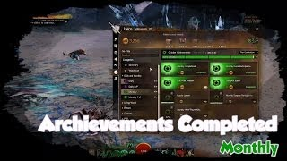 [GW2] Archievements Completed - Monthly
