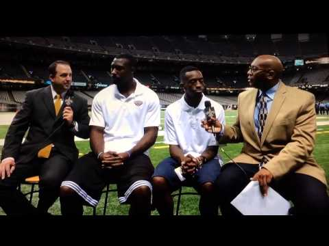 Russ Smith Interviewed during New Orleans Saints Pregame