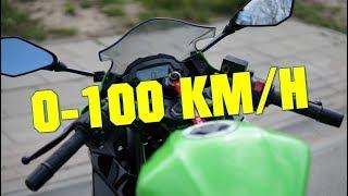 2019 Kawasaki Ninja 125 - 0-100 KMH - 0-60 MPH