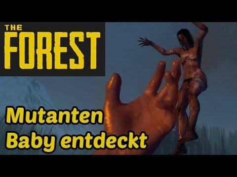 Let's Play The Forest Deutsch German Gameplay - Mutanten Baby