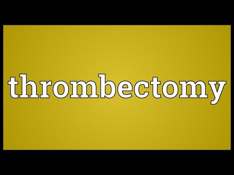 Header of thrombectomy