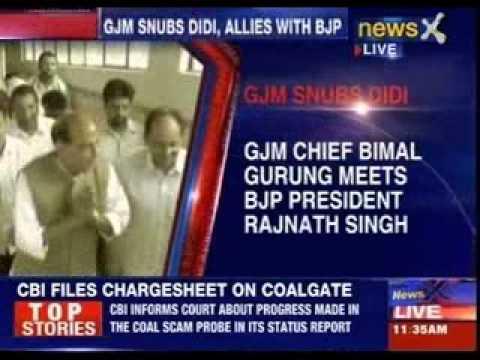 GJM Chief Bimal Gurung meets BJP president Rajnath Singh