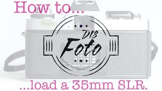 How to load a 35mm SLR camera (analog photography) #filmisnotdead