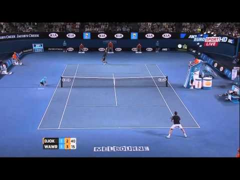 Djokovic vs. Wawrinka - Australian open 2013 R4 Highlights (HD)