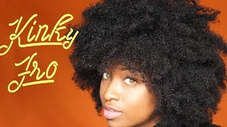 How To Get A BIG Kinky Afro w/ a Braid Out | TYPE 4 ➰