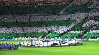 Celtic v Barcelona fan footage