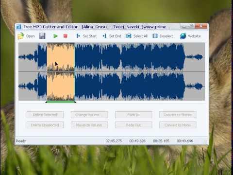 Обрезать песню бесплатно Free MP3 Cutter and Editor