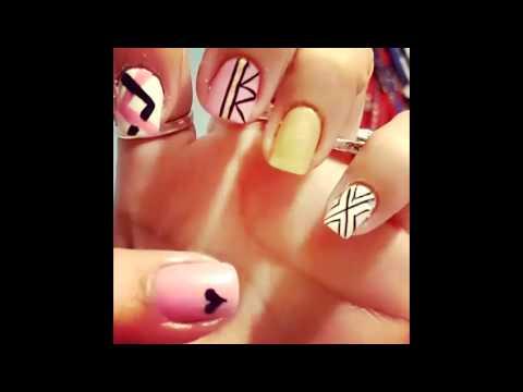 diseños de uñas lindas y sencillas