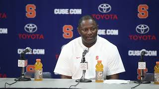 Dino Babers postgame news conference after Syracuse football vs. Connecticut (2018)