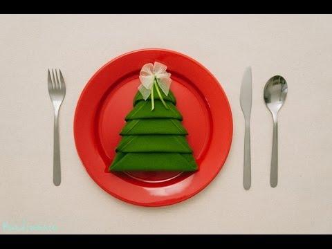 Hur man viker en julgran av en servett