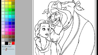Beauty And The Beast Coloring Pages For Kids - Beauty And The Beast Coloring Pages Online