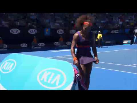 Serena Williams Destroys Racquet - Australian Open 2013