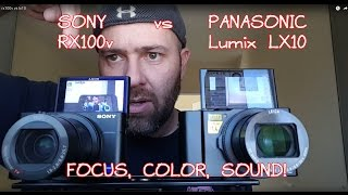 SONY RX100V  vs  PANASONIC LUMIX LX10