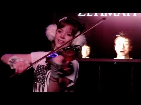 LIVE Skyrim Theme  Lindsey Stirling & Peter Hollens