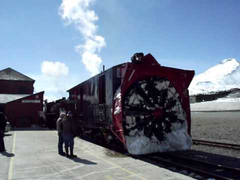 This video shows the operation of the historic steam locomotives and rotary snow plow of the White Pass & Yukon Route railway north of Skagway, Alaska, on Ap...