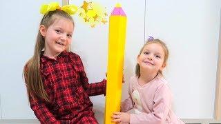 CREIONUL MAGIC !!! Sofia, Sara si Istorioara Vesele despre Creionul Fermecat! The Magic Pencil Story