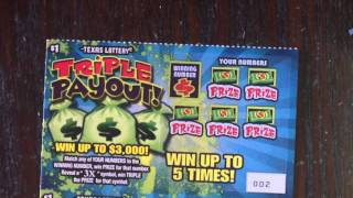 $1 Triple Payout Texas Lottery Scratch Off Tickets
