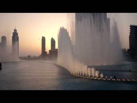 Burj Khalifa Fountain show: Time to say goodbye - Andrea Bocelli...