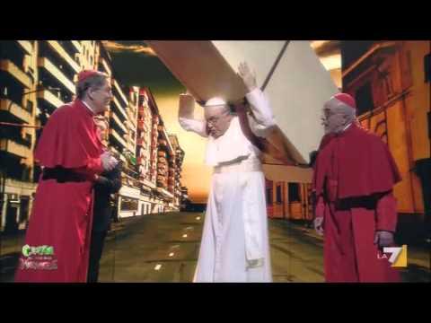 Crozza e il fardello del Papa