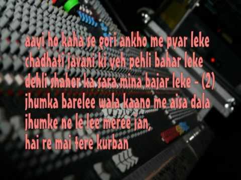 Kajra Mohabbat Wala Ankhiyo Me Aisa Dala-remix -karaoke by yakub...
