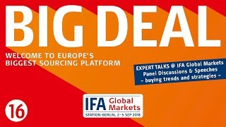 IFA Global Markets - Exhibitors personal introduction Clip 16