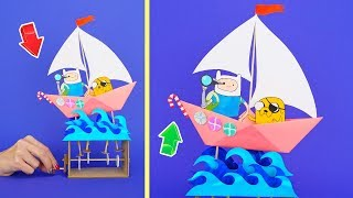 ADVENTURE TIME SAILBOAT and 9 COOL DIY FOR FAMILY AND FUN