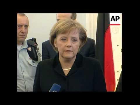 German Chancellor meets Katsav and Netanyahu