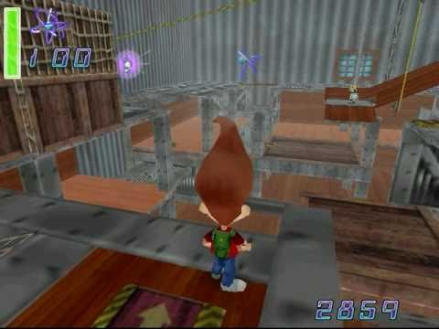 Jimmy Neutron VS Jimmy Negatron walkthrough part 2: Escaping Negatron's Demension (1/2)