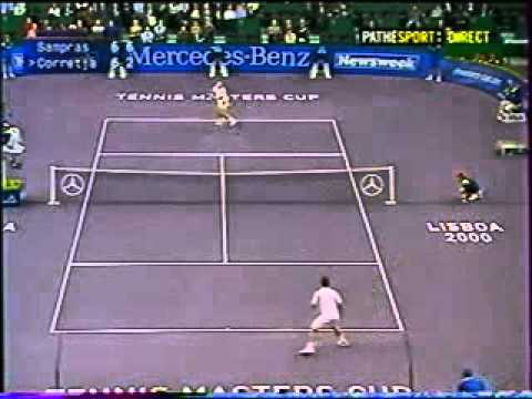 Pete Sampras great shots selection against Alex Corretja (Masters 2000 RR)