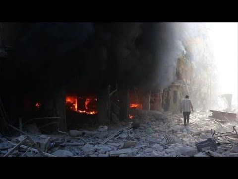 Syrian army air raids strike various targets in Aleppo