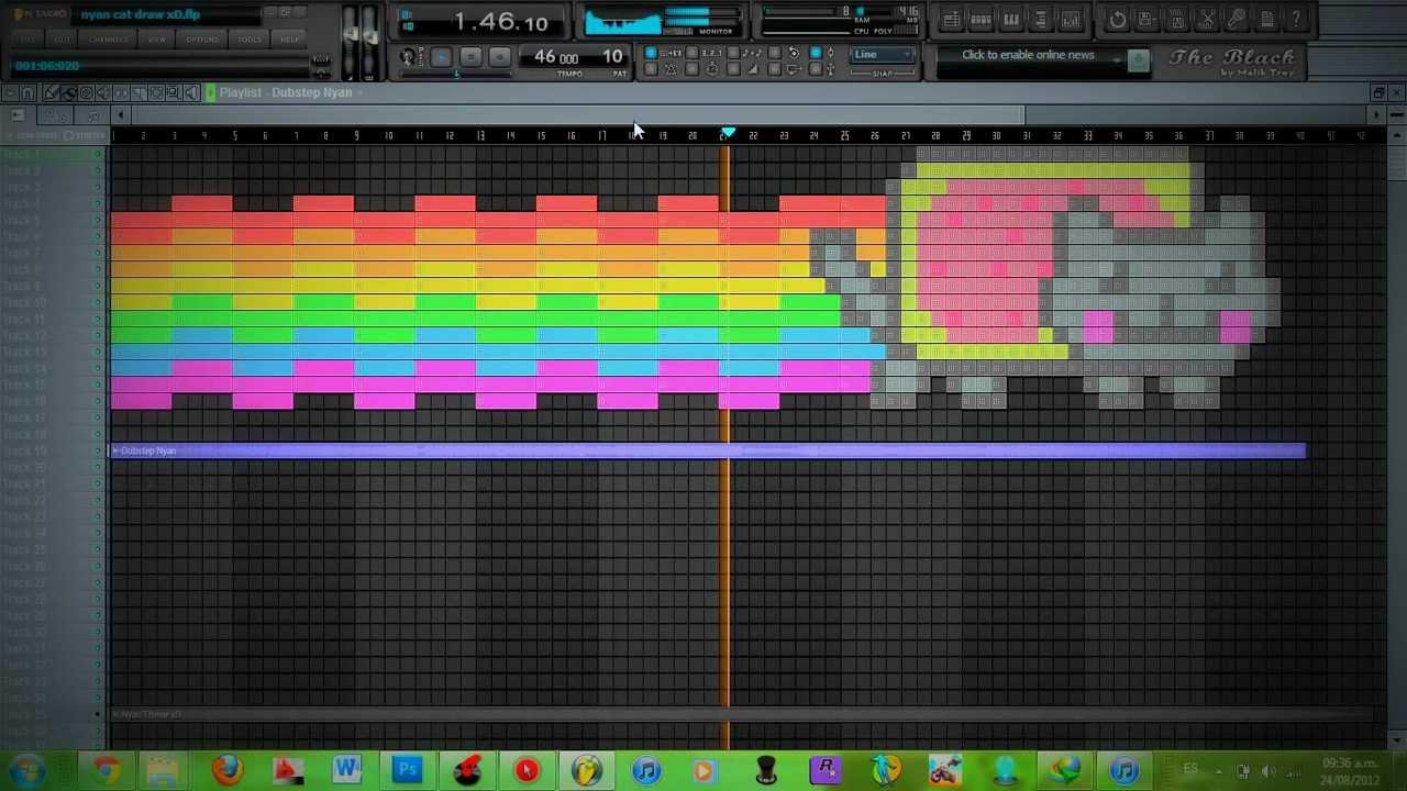 nyan cat fl studio draw  dubstep nyan theme