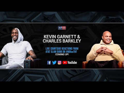2019 AT&T Slam Dunk Contest   Kevin Garnett & Charles Barkley LIVE Courtside