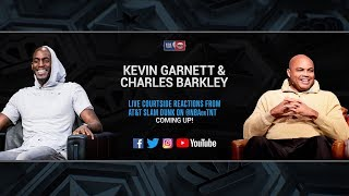 2019 AT&T Slam Dunk Contest | Kevin Garnett & Charles Barkley LIVE Courtside