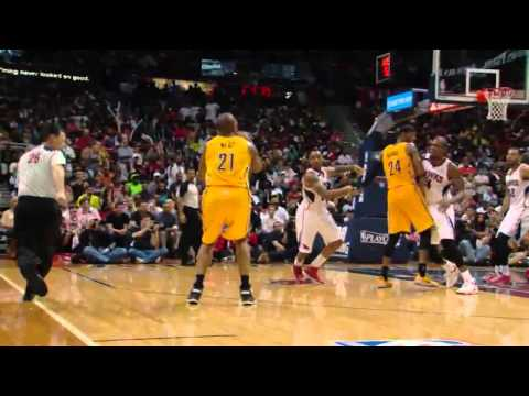 NBA, playoff 2014, Pacers vs. Hawks, Round 1, Game 4, Move 57, David West, 3 pointer