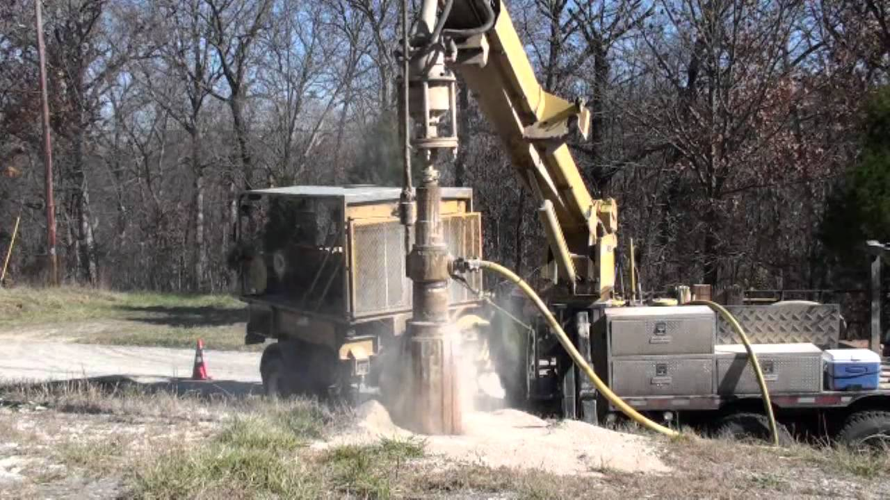 Big River Utility Services Rock Drilling Demo Youtube