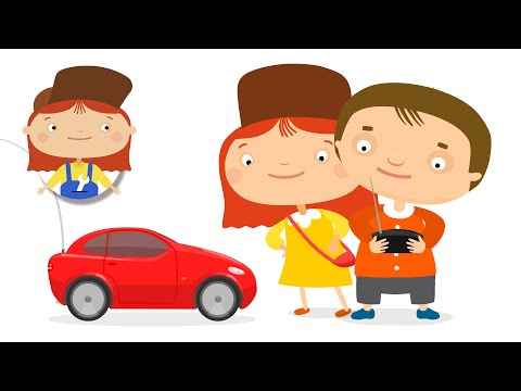 Kids cartoon about cars. Birthday present